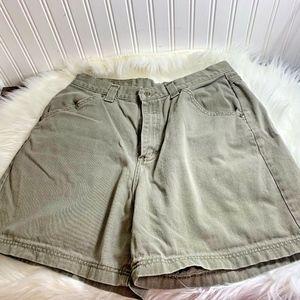Lee Vintage Sz 14 Womens Army Green Shorts High Ri